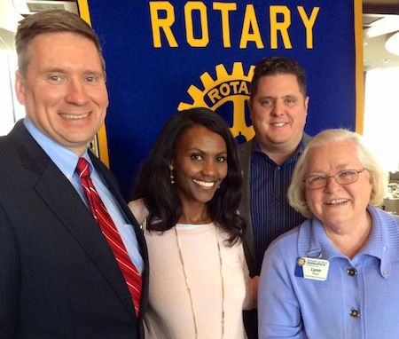 Rotary Members with new member